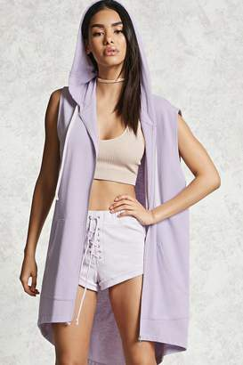 Forever 21 Contemporary Longline Hoodie
