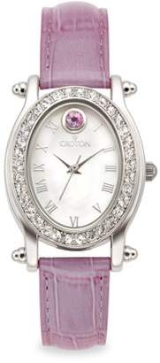 Croton June Birthstone Watch with Mother of Pearl Dial