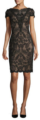 Tadashi Shoji Embroidered Floral Sheath Dress $399 thestylecure.com