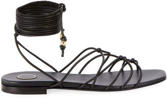 Balmain Mia Flat Strappy Ankle Sandals