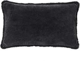 Pottery Barn Fringe Velvet Lumbar Pillow Cover
