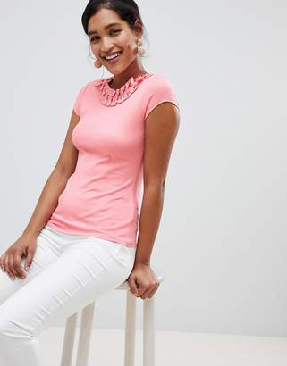 Ted Baker Charre T-Shirt With Bow Neck Detail