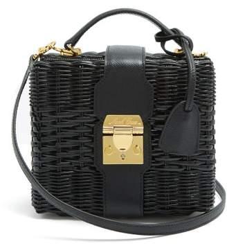 Mark Cross - X Hvn Harley Small Wicker Basket Bag - Womens - Black