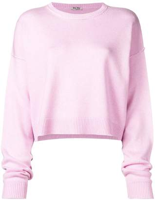 Miu Miu cropped sweater