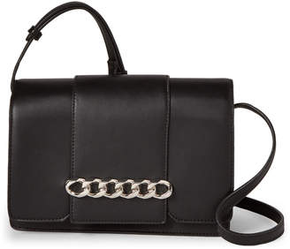 Urban Expressions Black Vienna Chain-Accented Crossbody
