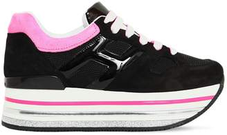 Hogan 70mm Maxi 222 Leather & Suede Sneakers