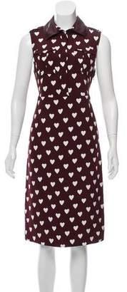 Burberry Printed Sleeveless Midi Dress