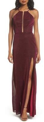 La Femme Sparkle Sheath Gown