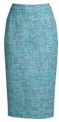Escada Tweed Pencil Skirt