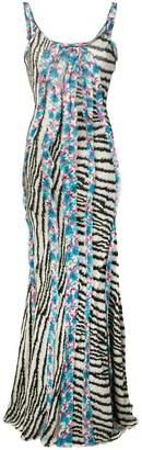 Etro printed open-back dress