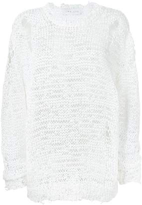 IRO holey knitted jumper
