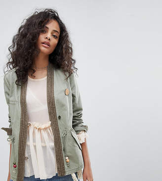 Maison Scotch Exclusive Military Jacket With Kimono Detailing