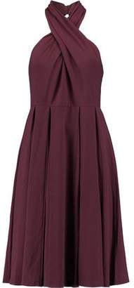 Halston Halterneck Crepe Mini Dress