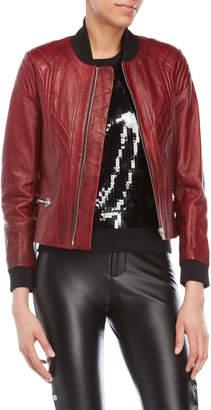 Faith Connexion Red Leather Moto Jacket