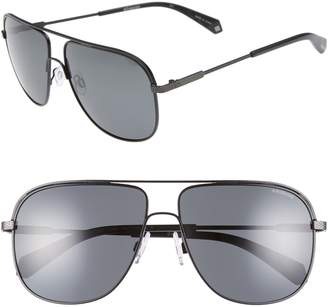 Polaroid 59mm Polarized Aviator Sunglasses