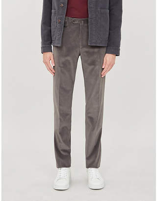 Corneliani Slim-fit stretch-cotton corduroy trousers