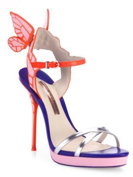 Sophia Webster Chiara Wing Multicolor Platform Sandals $595 thestylecure.com