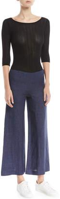 Theory Terena B. Wide-Leg Integrate Linen Pants