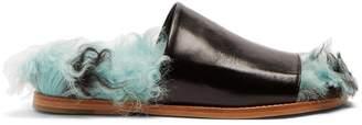 Marques Almeida MARQUES'ALMEIDA Shearling and leather slides