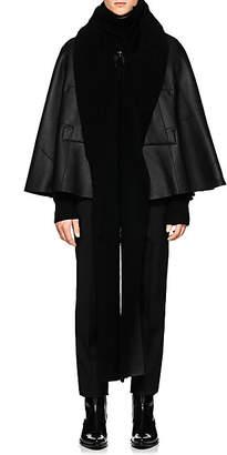 Takahiromiyashita theSoloist Men's Shearling Hooded Cape - Black
