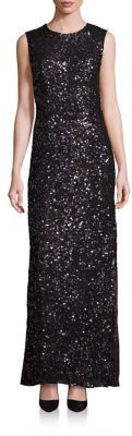 Laundry by Shelli Segal PLATINUM Sequin Cutout Gown $795 thestylecure.com