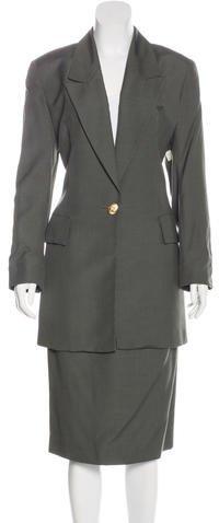 Christian Dior Christian Dior Oversize Woven Skirt Suit
