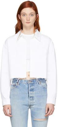GRLFRND White Denim Christy Shirt