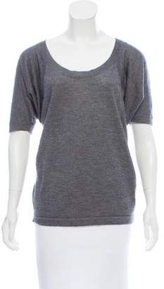 Donna Karan Cashmere Short Sleeve Top