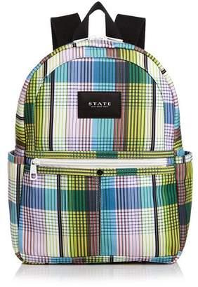 STATE Kane Mini Plaid Backpack