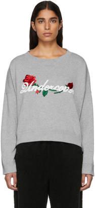 Undercover Grey Oversized Cropped Logo Sweatshirt