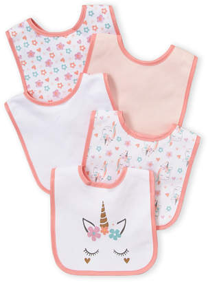 Baby Essentials Chick Pea (Newborn/Infant Girls) 5-Pack Unicorn Bib