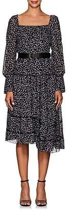 Altuzarra Women's Lahiri Floral Silk-Blend Dress - Purple