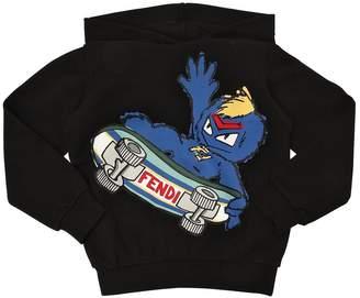 Fendi Hooded Skater Printed Sweatshirt