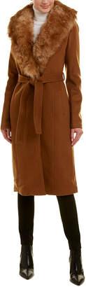 Badgley Mischka Natasha Wool-Blend Coat