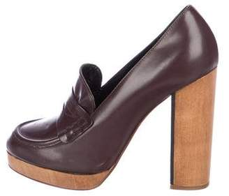 United Bamboo Round-Toe Leather Pumps