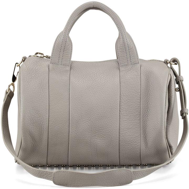 Alexander Wang Rocco Stud-Bottom Duffel Bag, Oyster