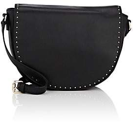 c3482bf5aa Barneys New York WOMEN S STUDDED LEATHER SADDLE BAG - BLACK