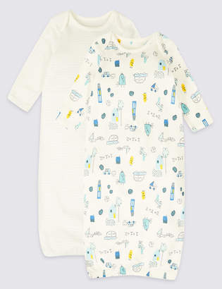 c149905a493 Marks and Spencer 2 Pack Pure Cotton All Over Print Bundlers