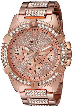 GUESS Men's Stainless Steel Multifunction Crystal Accented Watch