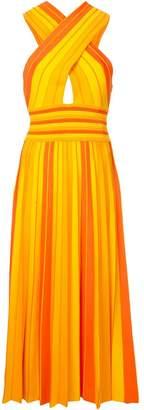Carolina Herrera striped halterneck dress