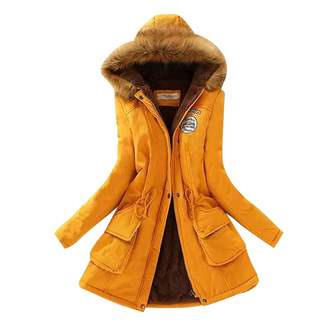 ZEVONDA Womens Warm Winter Coats - Hooded Parkas Jacket Faux Fur Lined Overcoats