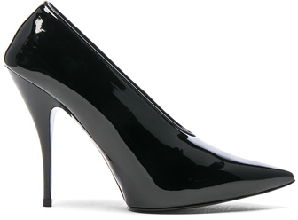 Stella McCartney Pointed Toe Pumps in Black.
