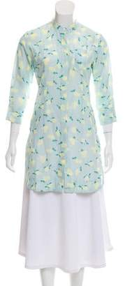 Piamita Printed Three-Quarter Sleeve Dress