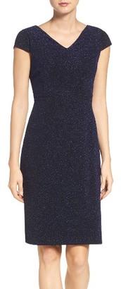 Women's Betsey Johnson Metallic Knit Sheath Dress $148 thestylecure.com