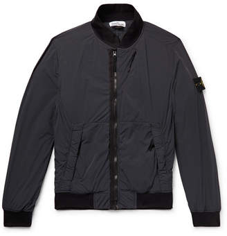 Stone Island Garment-Dyed Comfort Tech Composite Hooded Bomber Jacket