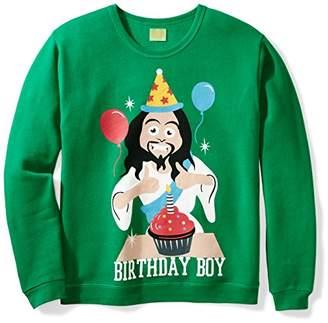 Ugly Fair Isle Unisex Fleece Birthday Boy Jesus Crewneck Christmas Sweater