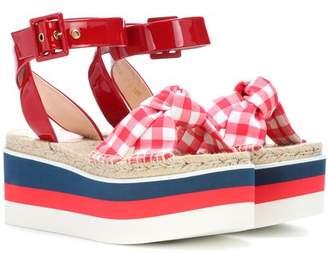 Gucci Patent leather platform sandals