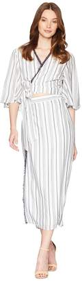The Jetset Diaries Aries Stripe Shirtdress Women's Dress
