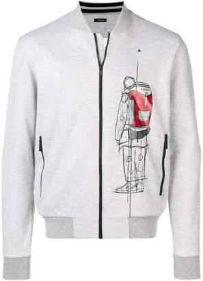Ermenegildo Zegna printed zip-up jacket
