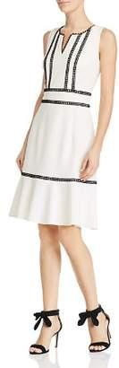 Nanette Lepore nanette Sleeveless Lace Trim Knit Dress